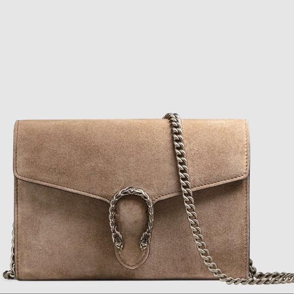 154753e88a7 Gucci Handbags - Dionysus Suede Mini Chain Bag